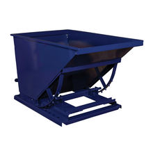 Material Handling Equipment Forklift Attachment Self Dumping Steel Hoppers