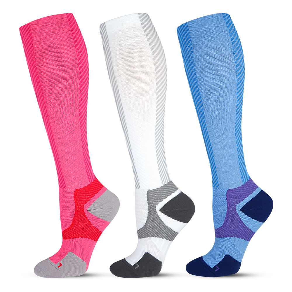 Mens 20-30mmHg nylon medical sport bonvolant plain compression socks