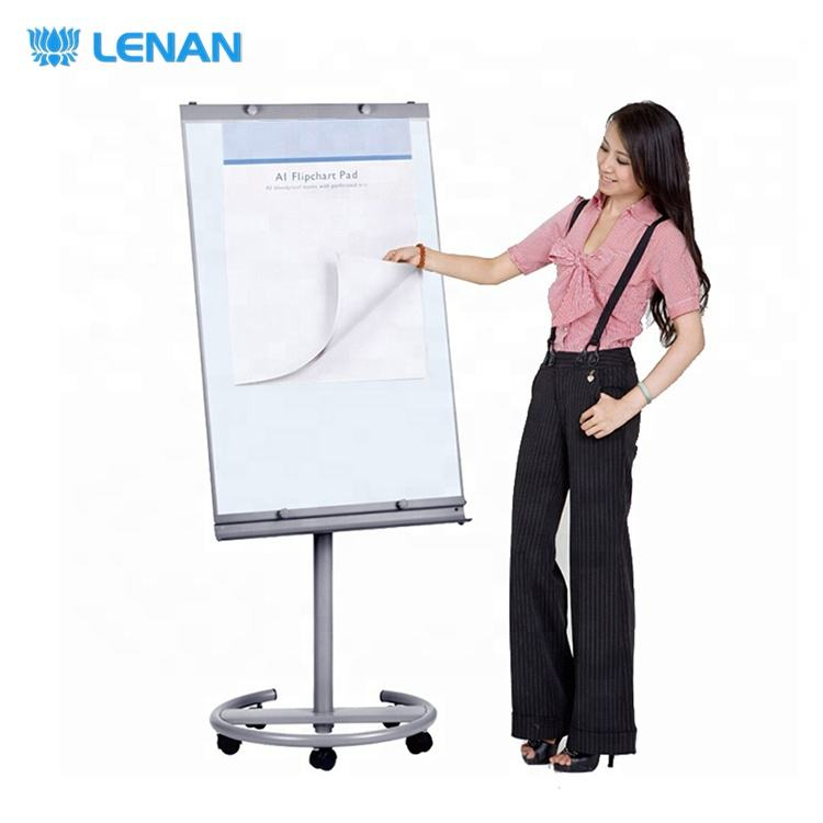 Hot sale office and school flip chart white board stand magnetic whiteboard easel mobile flip chart board with wheels