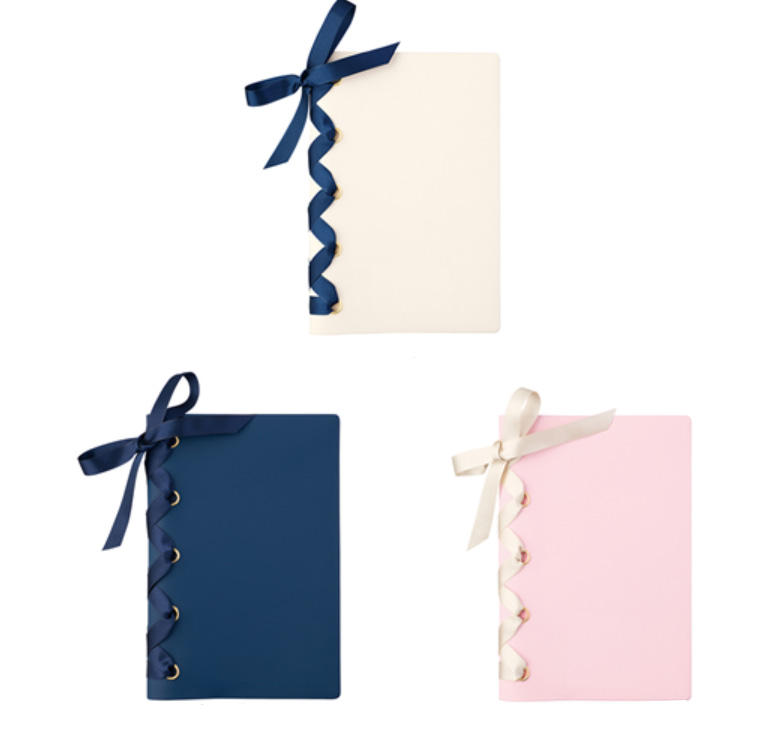 2020 Christmas new cute bow ribbon notepad set,Fashion custom print notepad with ball pen for girl gift