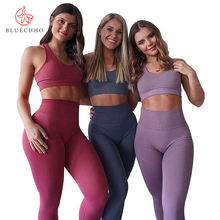 2019 new design clothes women sport set 2pc fitness yoga wear sexy girls leggins seamless gym suit set