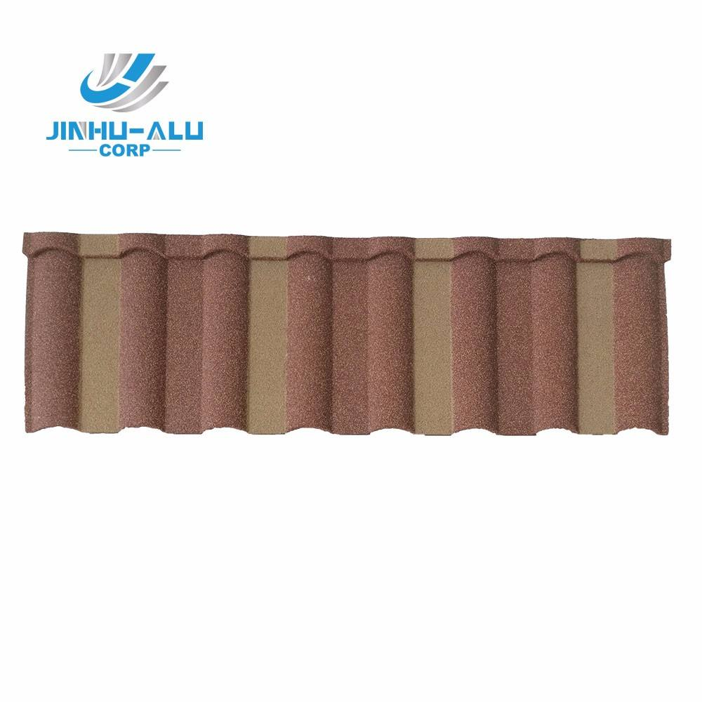 JINHU Milano Type stone coated metal roofing tile 0.4mm steel panel