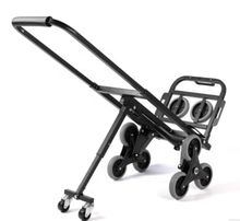super september hot sale ready to ship 6 wheels Three-wheel stair climbing portable folding luggage cart trolley