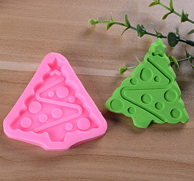 Christmas tree decorative cake tools moilds biscuits silicone resin mould for making Jelly/Chocolate/ Cake/ Pudding/ Soap