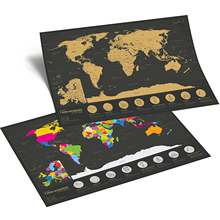 2019 scratch world map with accessories, Wonders Scratch World Map Personal Travel Tracker Poster Map