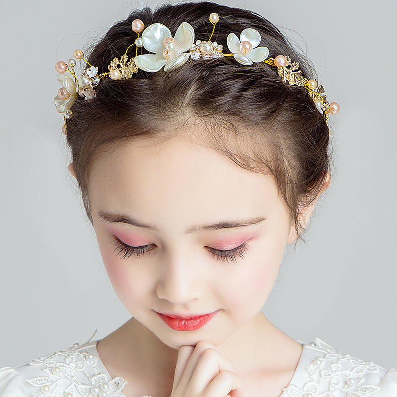 Garland Tiara Super Fairy Princess Mori Korean Flower Children's Hair Band Girls Head Flower Hair Accessories for Catwalk