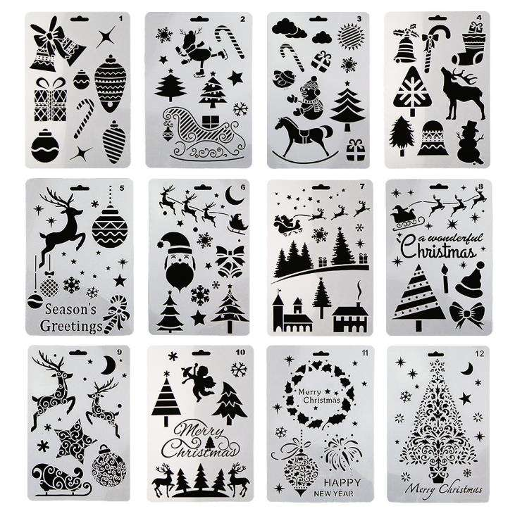 Letter and Number Stencils Set DIY Drawing Plastic Template Tool for Wood Burning Pyrography Wall Painting