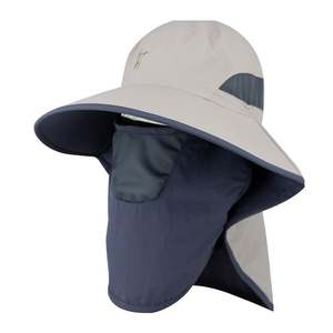 Outdoor sun protection man uv protection shade summer fishing cap face breathable big-brimmed fisherman hat