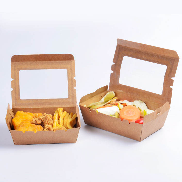 emballage alimentaire box take away food container kraft paper lunch box