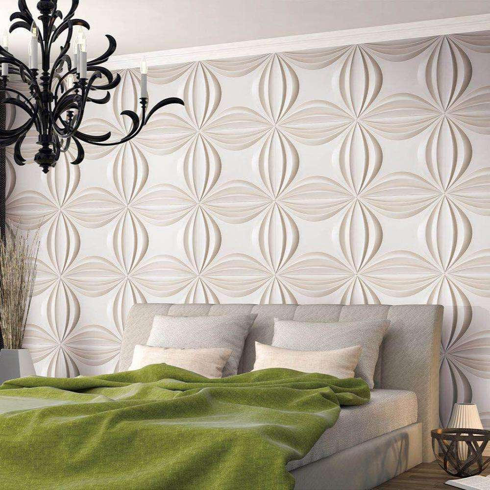 Green material 3d wall panels wallpaper wall sticker from China factory
