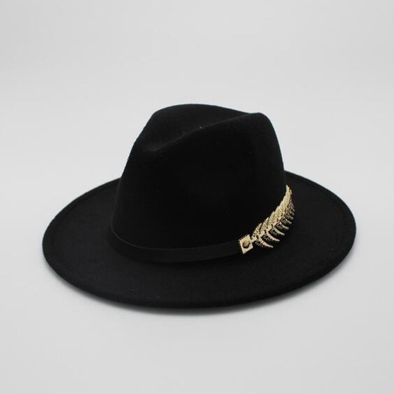 Wholesale Fashion Wool Felt Fedora Hats Cotton Polyester Round Caps Bowler Fedoras Panama Hat