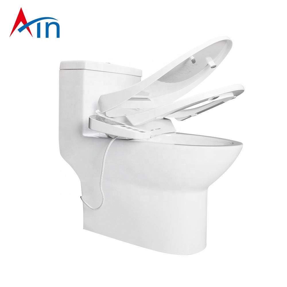 Electronic Bidets Japanese Luxury Portable Soft Close Smart Electric Heated Wc Bidet Toilet Seat Cover Plastic Seats