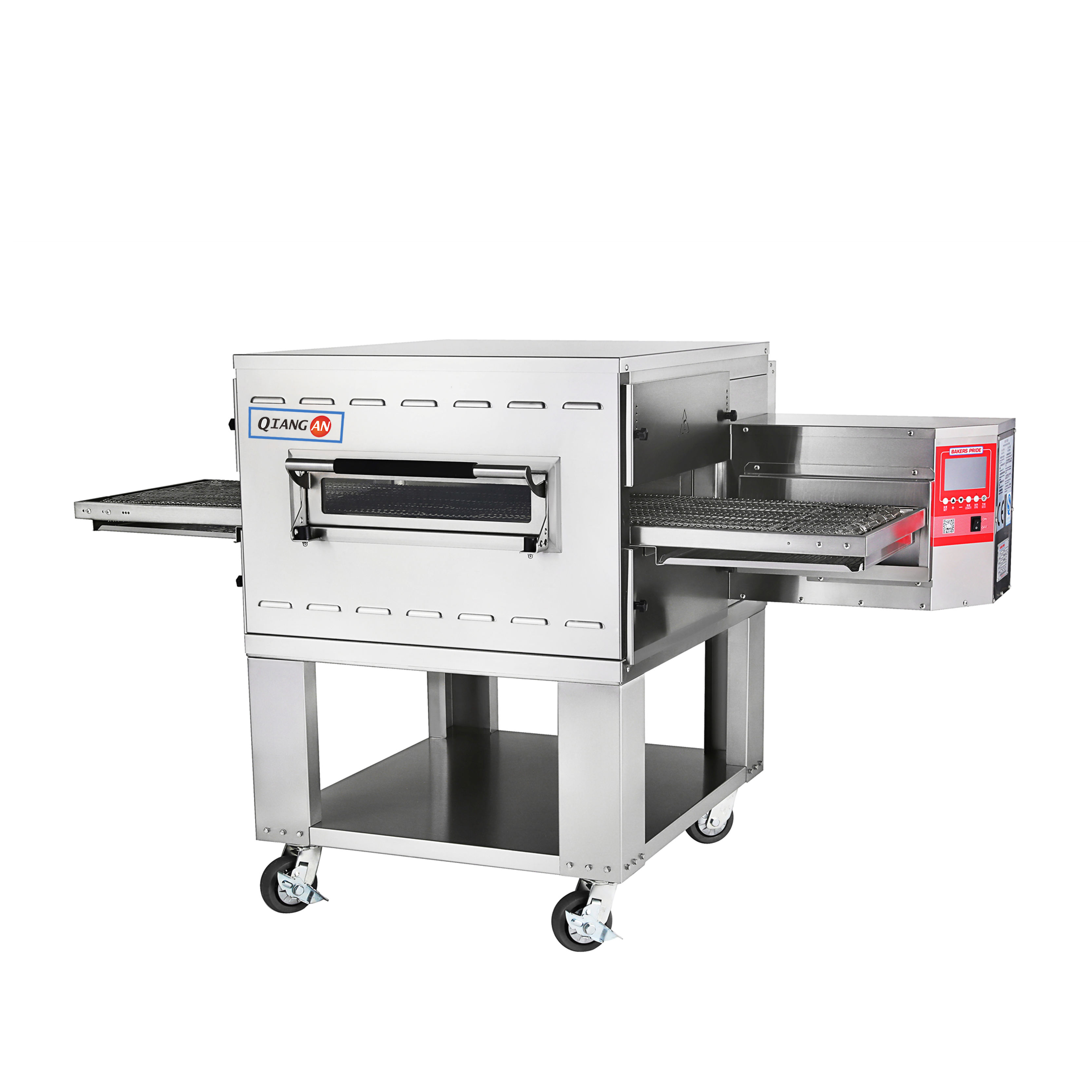 "H1832 freestanding electric 18"" wide belt coneyor pizza oven with impingement technology"