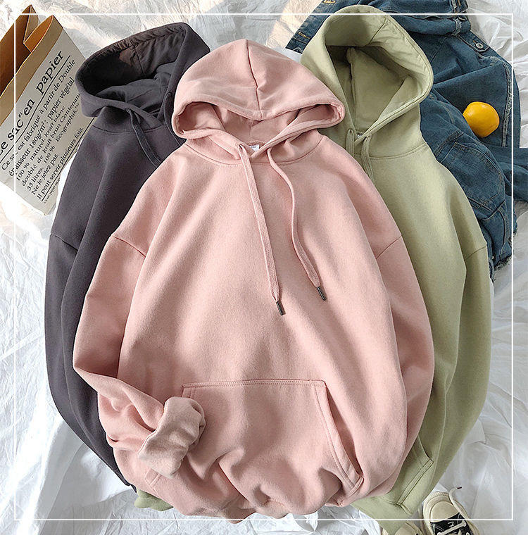 Oversized Sweatshirts Women Pink Womens Sweatshirt with A Hood Hoodies Ladies Long Sleeve Casual Warm Hoodie Pullover Clothes