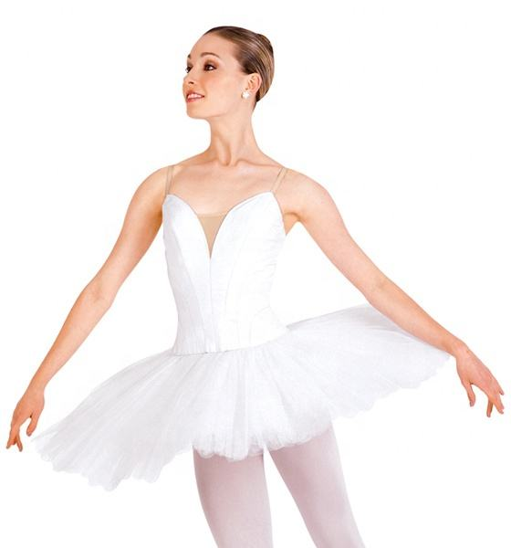 Girls Women Professional White Tutu Dress Ballet tutu Competition dress stage performance dance costume