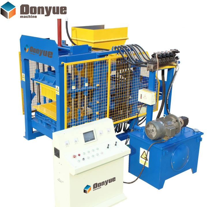 QT4-15 Automatic Concrete Block Making Machine Production Line