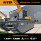 Excavator Amphibious Excavator Price RIVER-200 Heavy Duty Amphibious Excavator River Dredging Excavator Amphibious Pontoon Undercarriage Excavator For Sale