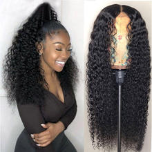 100% Natural Virgin Curly Hair Lace Front Wig Cheap Cuticle Aligned Human Hair Full Lace Wigs for women