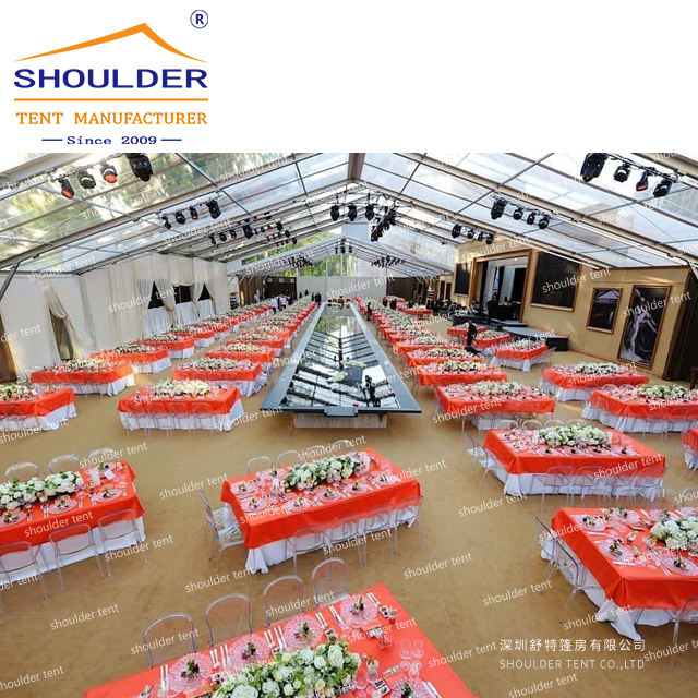 Customized Clear Span Tents Waterproof Pvc Cover Wedding Party Event Tent