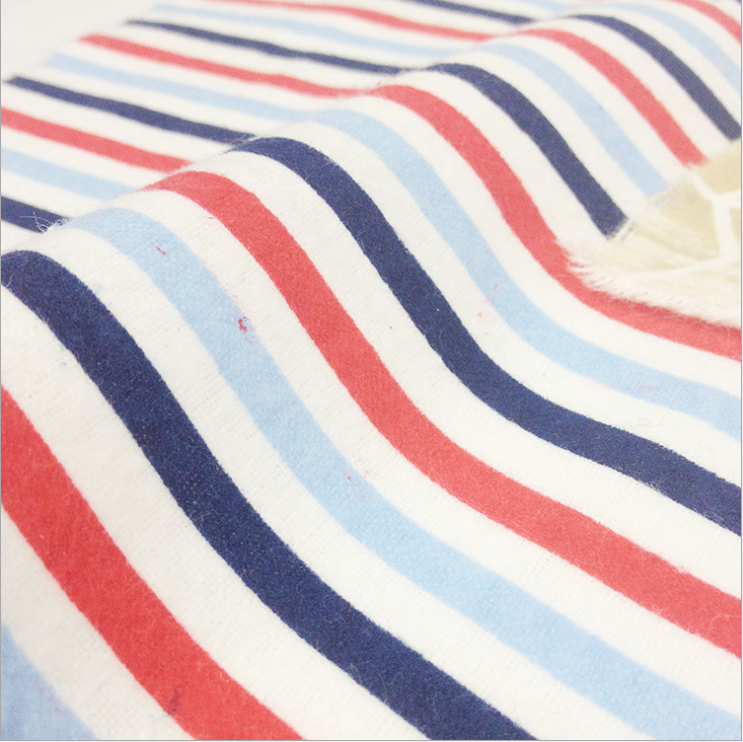 Zhejiang factory 100% pure cotton 150cm fleece cloth printed flannel for clothing bedding
