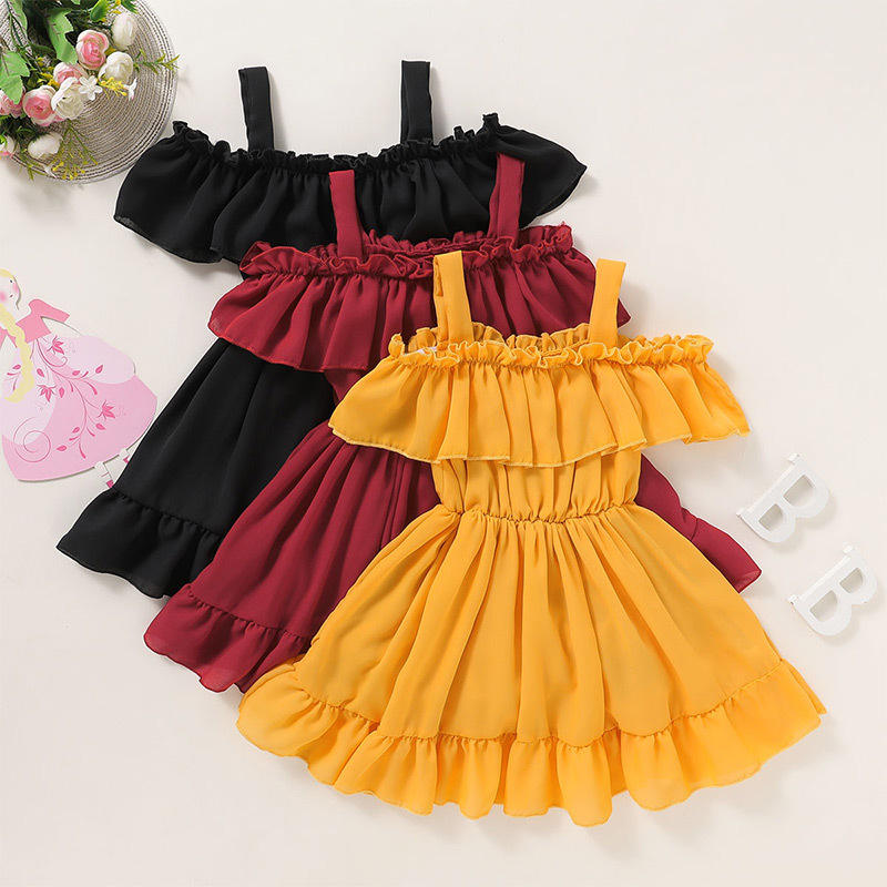 Summer polyester vintage design baby party clothes kid clothing toddler babies flare skirts children skirt princess girl dresses