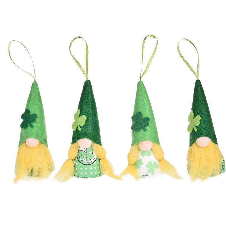 Green clover dwarf Irish Day glowing ornaments St. Patrick's Day fabric party decoration green spring faceless doll