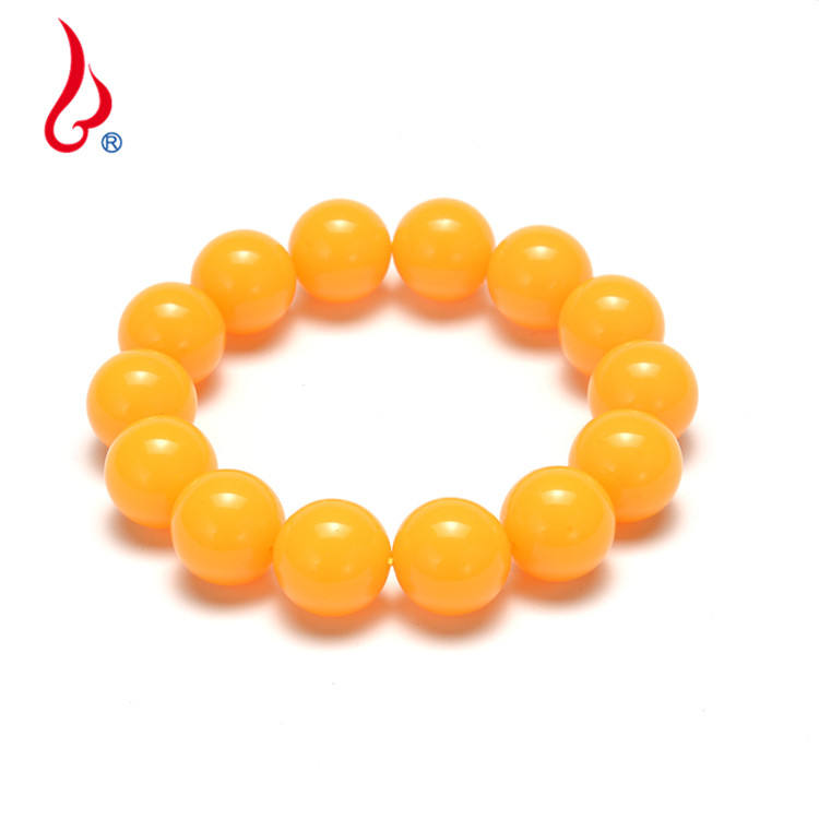 Lan Guang Wholesale Fashion Custom 14mm 16mm 18mm 20mm Women Charm Beads Stretch Natural Stone Bead Bracelet