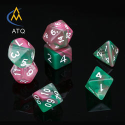 Transparent mixed three colors, floating silk suit dice