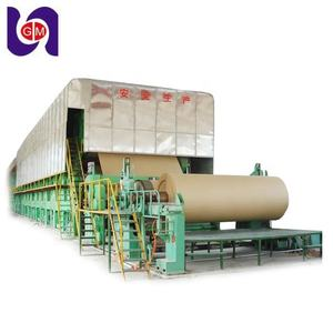 Waste Recycling Fluting Corrugated Medium Carton Manufacturing Production Line Cardboard Making Machine Kraft Paper Mill Price
