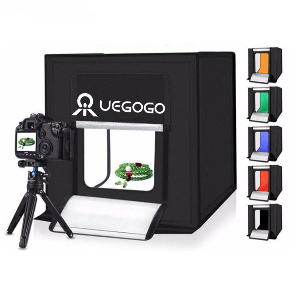 2021 New Design Table Top Light Room Photo Studio 40センチメートルPhotography LED Lighting Tent Backdrop Cube Mini Box Photo Lightbox