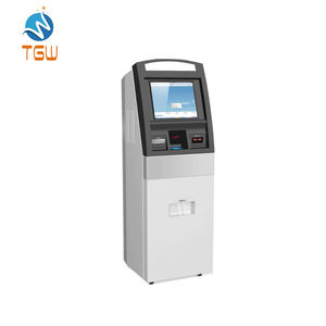 Kiosk Machine Met Rfid Kaartlezer, Bill Acceptor Touch Screen Kiosk Machine Met Ticket Printer