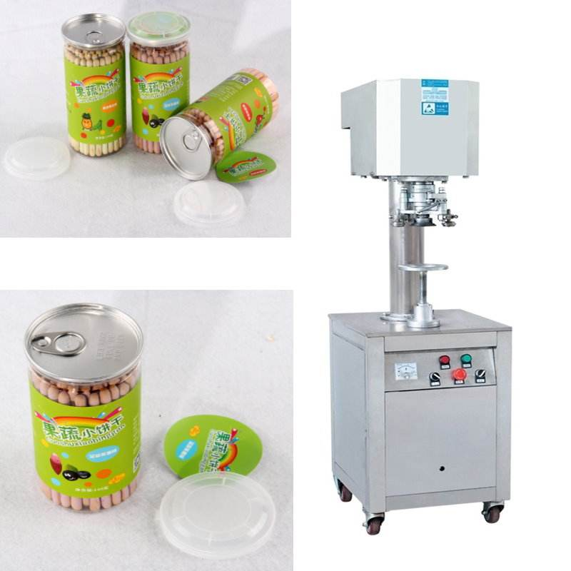 Manual Tray Cans Sealer Machine Fast Food Container Sealing Equipment