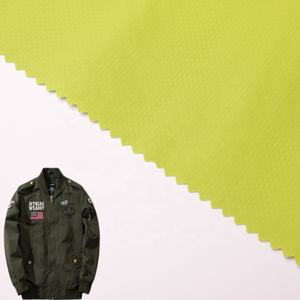 40D+70D Grid 261T waterproof light weight ripstop nylon fabric roll for jacket
