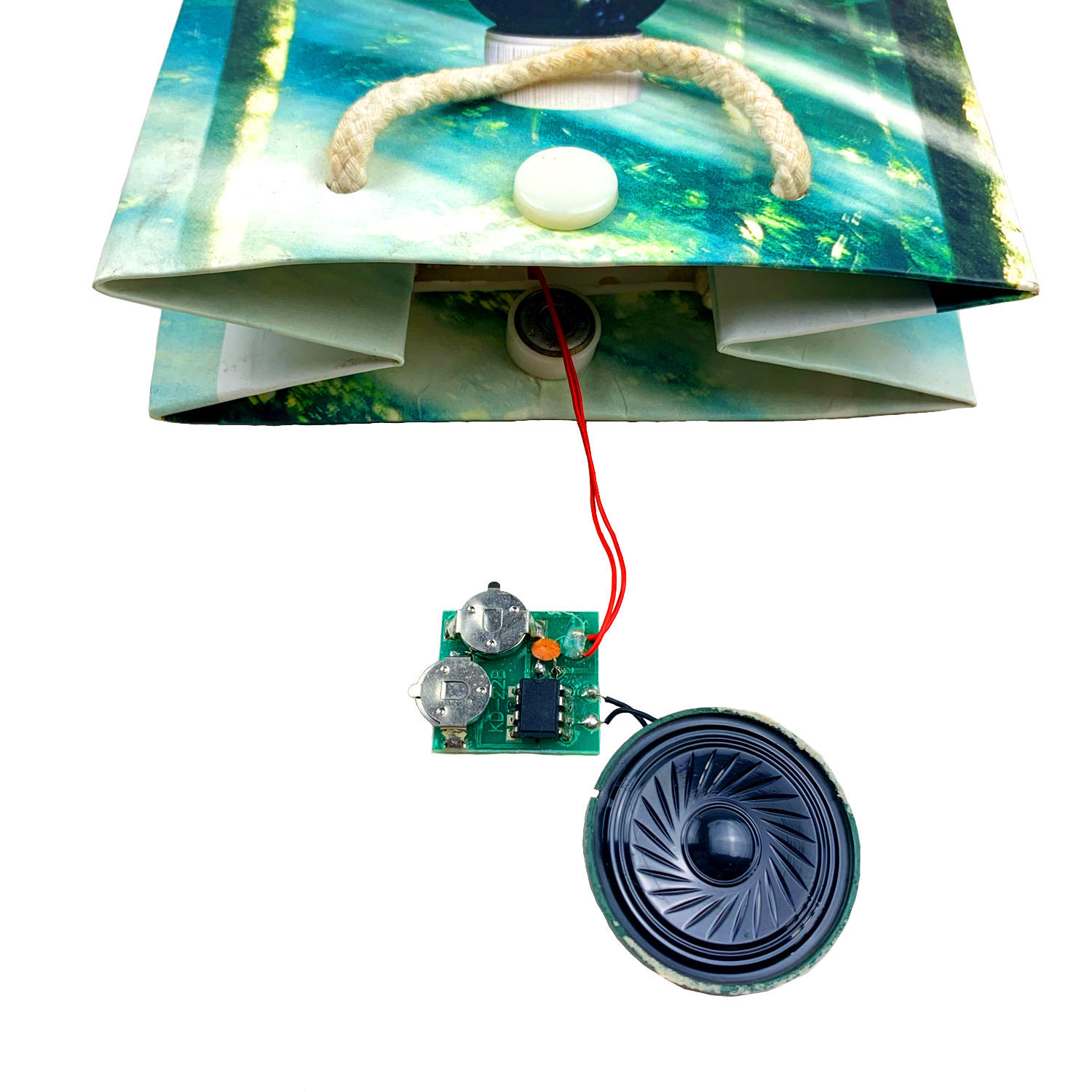 musical gift paper bag With Sound Module Chip Music Speaker For Paper Bags OEM ODM