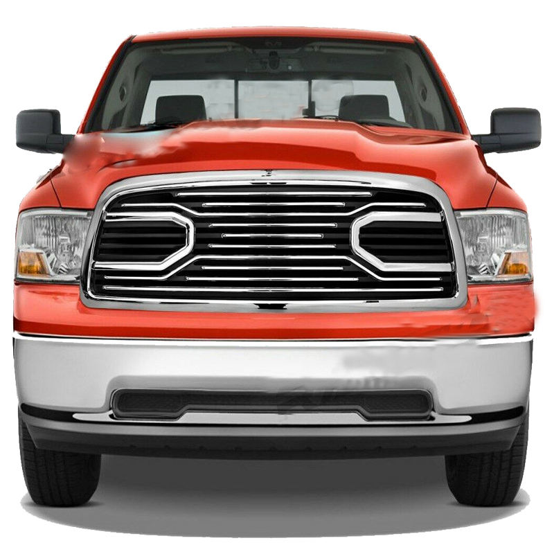 13-17 Dodge RAM 1500 Big Horn Gloss Black Packaged Grille+Shell Replacement Gril