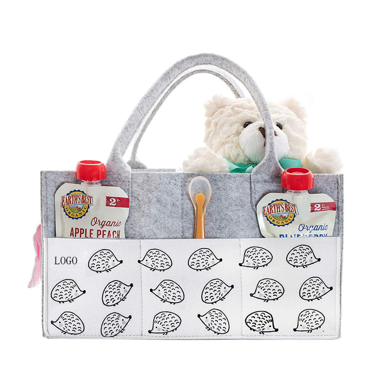 Amazon Manufacturer Multi-function Mommy Baby Felt Diaper Caddy Organizer Bag Highly Quality Nursery