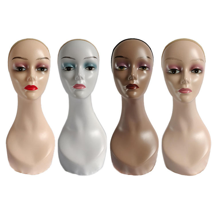 wholesale cheap mannequin head Female makeup jewelry display wig mannequin heads for wigs