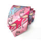 promotional private label printed men pink neckties silk tie fabric
