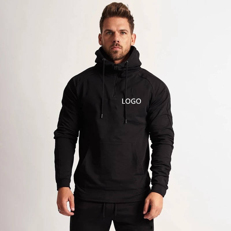 Custom Logo Printed Wholesale Pullover Plain Blank Gym Mens Hoodies