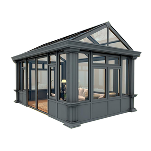 popular garden lowes design Aluminum frame glass house/sun room