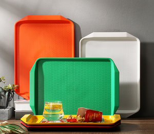 Online shopping india Fast Food Serving Lunch Cafeteria Trays Assorted Colors