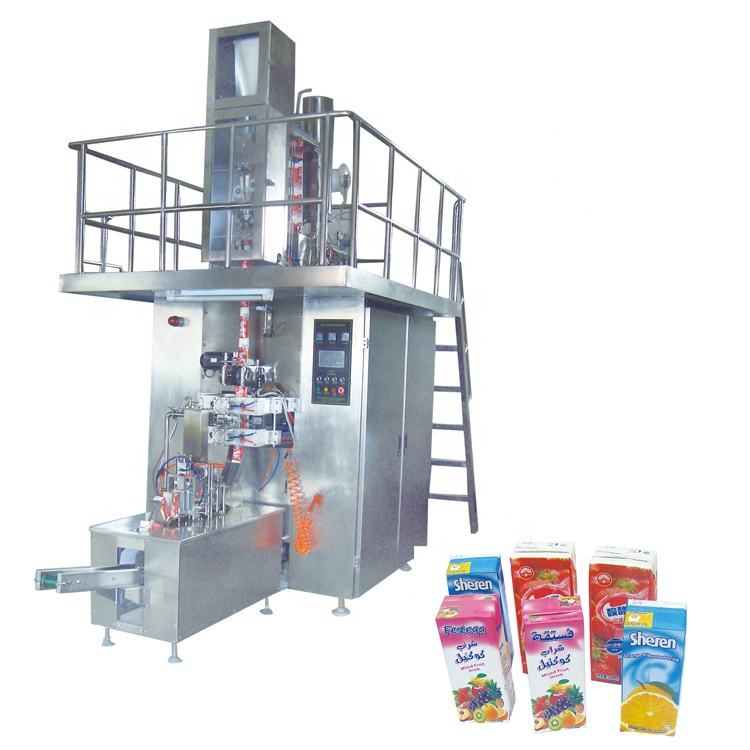 Custom Soy Milk Brick Shape Aseptic Carton Filling Packing Machinery