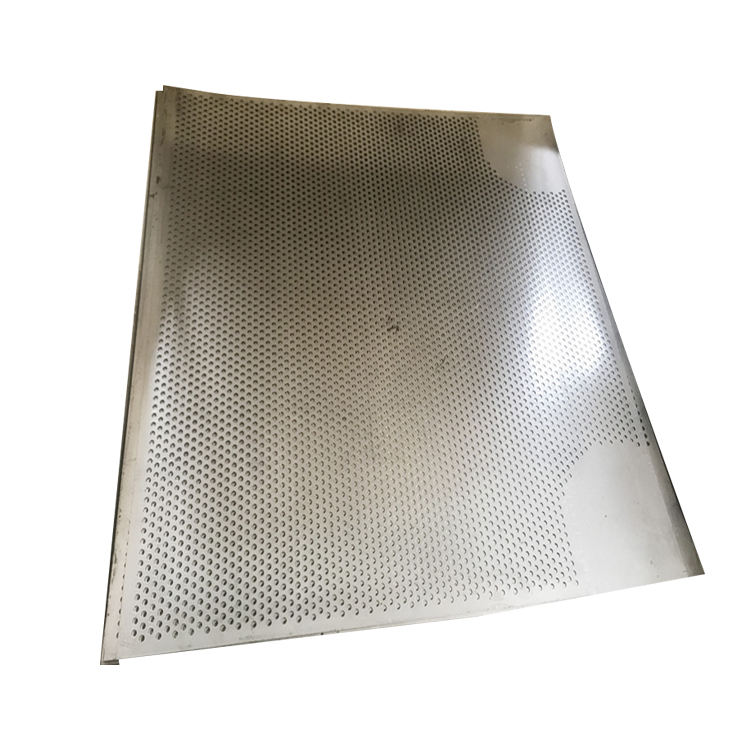 Perforated net metal strip punching panel for balcony