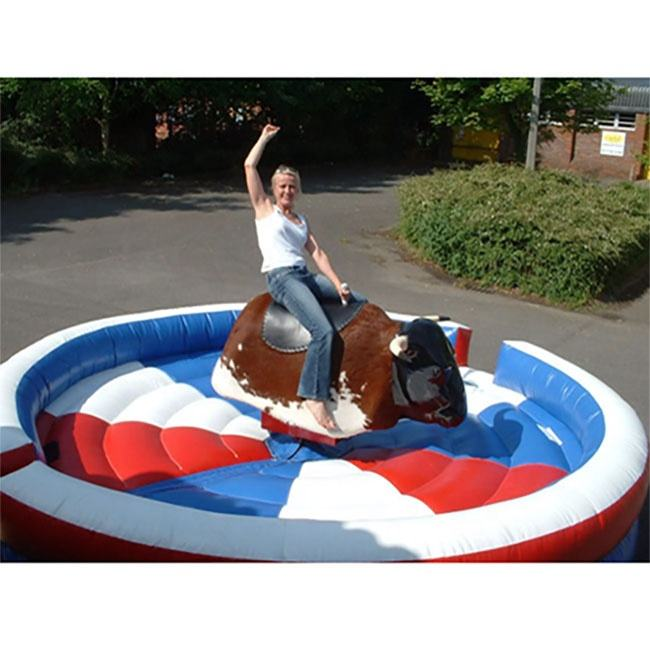 hot sale inflatable sport games inflatable rodeo bouncer mechanical bull mat for sale