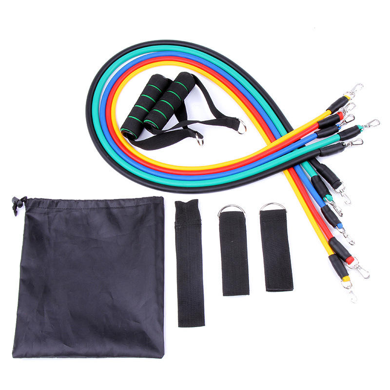 Groothandel 11 Sets Van Tpe Hond Haak Resistance Band Fitness Pull Touw Krachttraining Fitness Pull Set