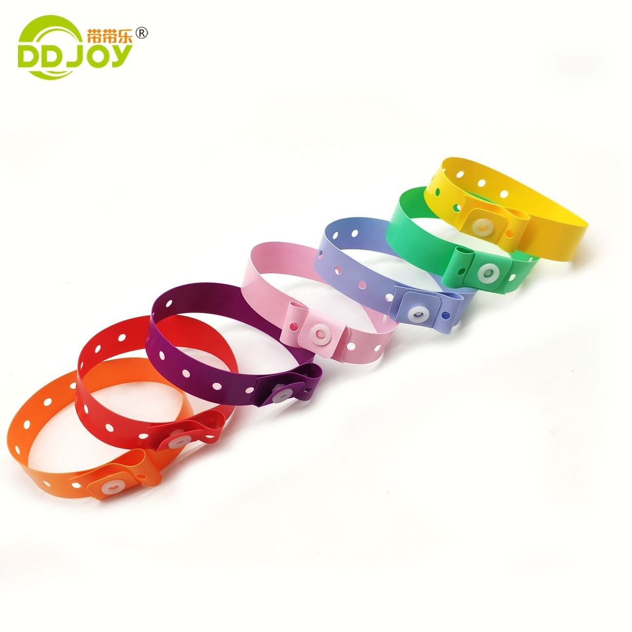 Customized one-off L shape id vinyl wristbands for promotion