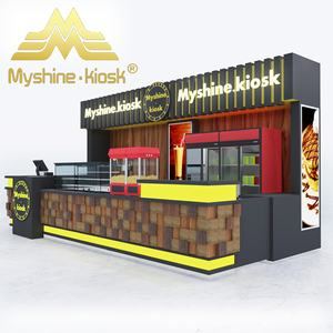 Cafe Display Teller Fast Food Retail Kiosk Bubble Tea Winkel Ontwerp