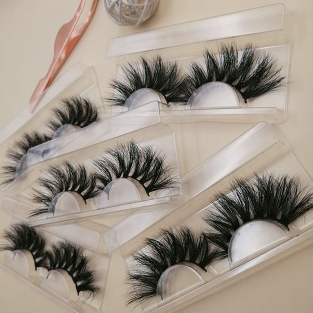 Free sample dramatic Mink eyelash lashes, Hand made 30mm 25mm Mink eyelashes, Custom Label mink eyelashes extensions vendor