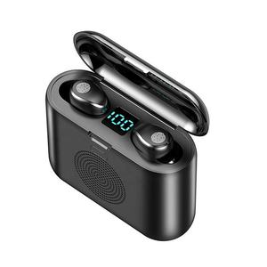 New F9 Auriculares Wireless Headset TWS Earphone three in one mini speaker with charging box 2000mAh Headphone Earbuds
