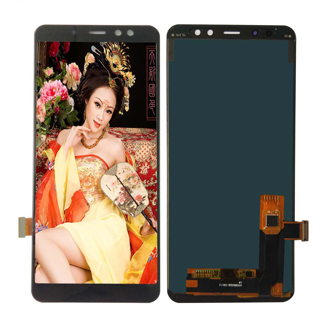Factory Directly Wholesale Good Pixels TFT lcd Material Mobile lcd Screen for Samsung Galaxy A8+